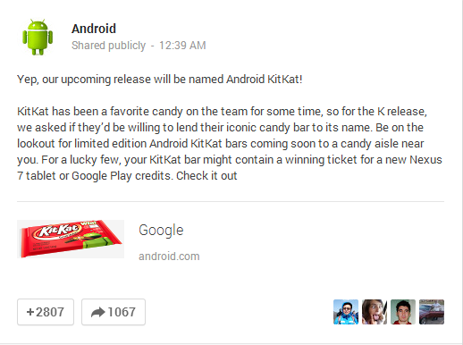 Android Kitkat Confirmation