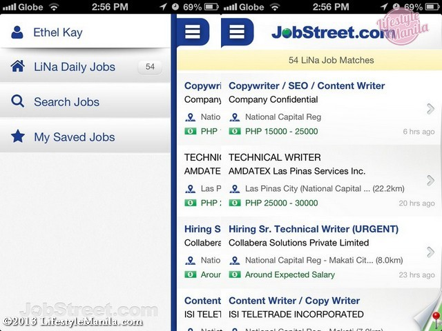Jobstreet mobile app new and improved lifestyle manila jobstreet philippines app ui stopboris Image collections