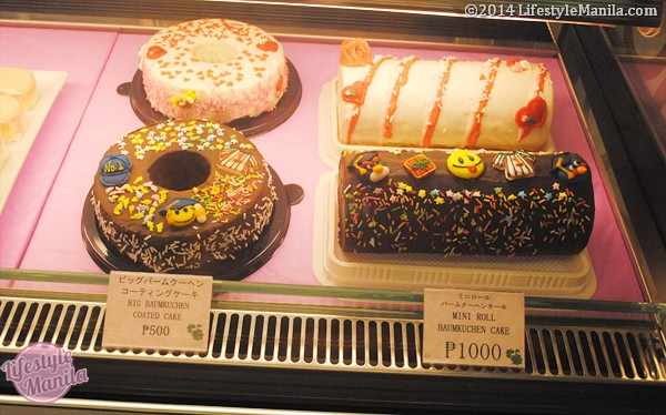 Left: Big Chocolate Covered Baumkuchen Cake, Php500