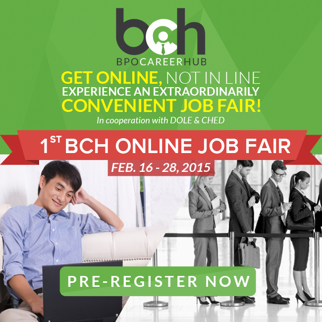 Find Your Dream Job at Philippines' FIRST EVER ONLINE JOB FAIR!
