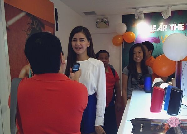 Janine Gutierrez at JBL Harman Kardon Showroom in Fairview Terraces