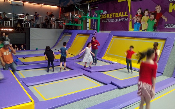 Trampoline Park Basketball Hoops