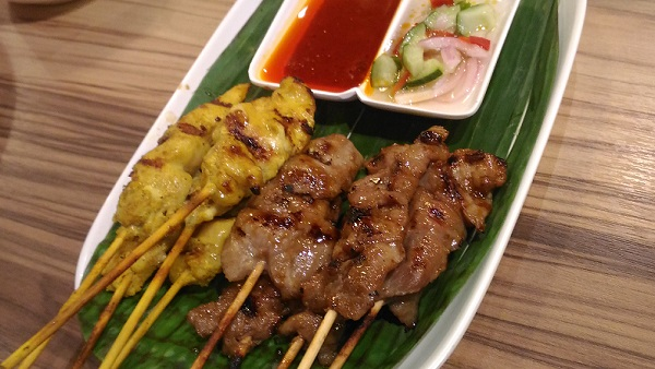 BKK Express Chicken Satay and Pork BBQ