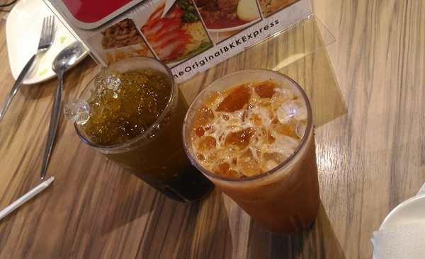 BKK Express Pandan Iced Tea and Thai Iced Tea