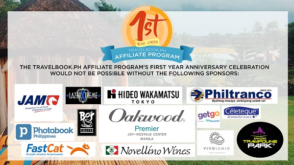 TravelBook PH Affiliate Anniversary Sponsors